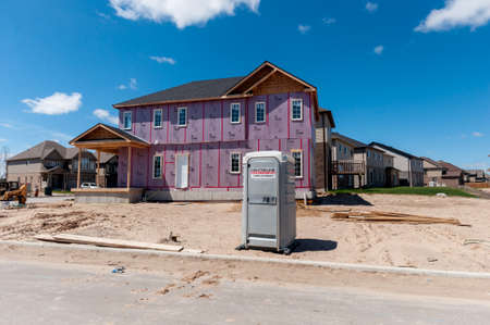 View At New Houses In A New District Of The Kitchener City, Ontario,..  Stock Photo, Picture And Royalty Free Image. Image 80742791.