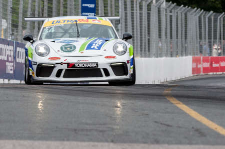TORONTO, ON - JULY 16: Car during the Porsche Ultra 94 GT3 Cup Challenge Race at Exhibition Place in Toronto, ON, Canada on July 16 2017