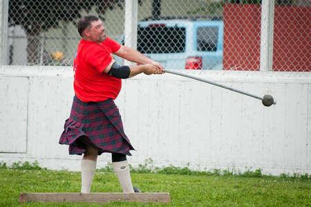 August 15, 2015 – Winnipeg, MB, Canada -  Manitoba association of Celtic sports organized Scottish heavy games during Folklorama festival Publikacyjne