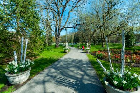View at park in Niagara Falls town, Ontarion, Canada Editorial