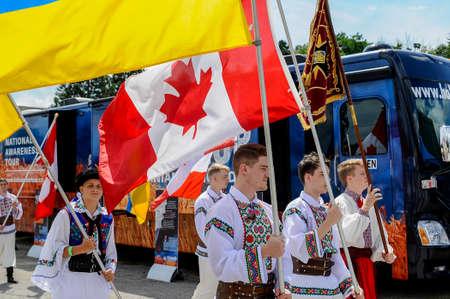 August 19, 2017. Toronto, Canada – Largest Ukrainian diaspora celebrating 26 Ukrainian Independence Day at Centennial Park in Toronto, ON, Canada Editorial