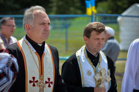 diaspora: August 19, 2017. Toronto, Canada – Largest Ukrainian diaspora celebrating 26 Ukrainian Independence Day at Centennial Park in Toronto, ON, Canada Editorial