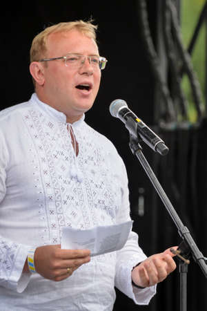 August 19, 2017. Toronto, Canada – Andriy Shevchenko Ambassador, Embassy of Ukraine in Canada duirng the  Largest Ukrainian diaspora celebration of 26 Ukrainian Independence Day at Centennial Park in Toronto, ON, Canada