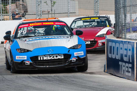 TORONTO, ON - JULY 16: Car during the Global MX-5 Cup Race at Exhibition Place in Toronto, ON, Canada on July 16 2017 Editorial