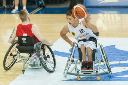 June 10, 2017 - Toronto, Ontario, Canada – Nico Dreimüller (12) on the field during the basketball game - Germany vs Great Britain during 2017 Men's U23 World Wheelchair Basketball Championship which takes place at Ryersons Mattamy Athletic Centre,