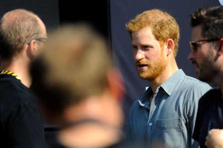 27 settembre 2017, Toronto, Canada - Sua Altezza Reale Prince Harry si incontra con i concorrenti durante i giochi Invictus a Toronto, in Canada. Editoriali