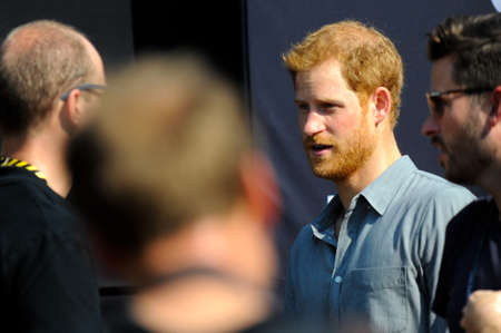 September 27, 2017, Toronto, Canada - His Royal Highness Prince Harry meeting with competitors during Invictus Games in Toronto, Canada. Editorial