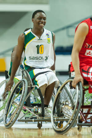 June 10, 2017 - Toronto, Ontario, Canada – Simangaye Shabalala on the field during the basketball game - South Africa vs Japan during 2017 Men's U23 World Wheelchair Basketball Championship which takes place at Ryersons Mattamy Athletic Centre, Toron