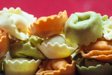 stuffed tortellini: Stuffed, tri-colored, tortellini