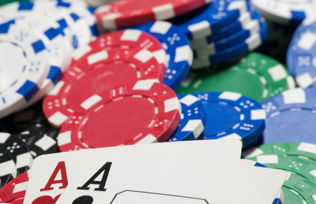 Pocket aces, and poker chips
