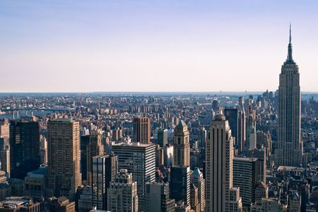 Skyscrapers in New York Stock Photo