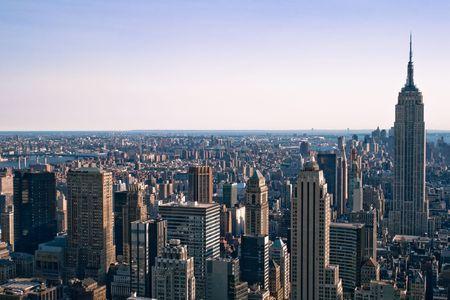 Skyscrapers in New York Stock Photo