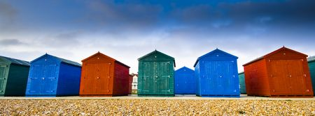 Colored houses at the beach