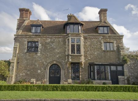 An old english stone house Stock Photo