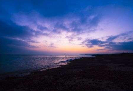 Lovely sunset on the beach