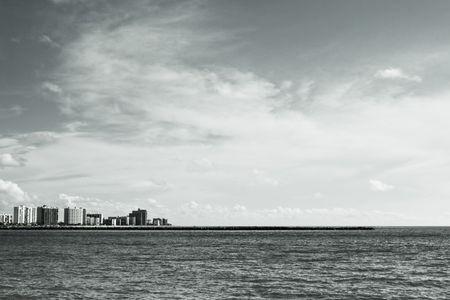 Skyscrapers by the ocean