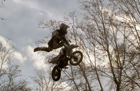 motorcycle stunts Stock Photo - 17614801