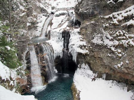 waterfall in the snow photo