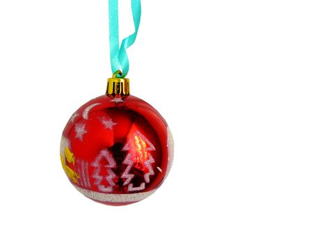 Beautiful Christmas sphere about the fur-tree image