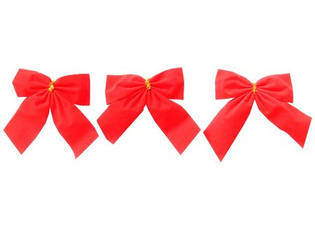 very beautiful red Christmas ribbons different in the size