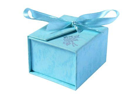 Belle, blue box pour un cadeau.
