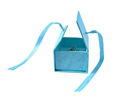 Gift open box with a ring