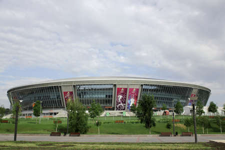 Donetsk, Ukraine - MAY 09: Donbass Arena May 9, 2012 in Donetsk, Ukraine. One semi-finals, one quarter and three group matches of Euro 2012 will be played here.