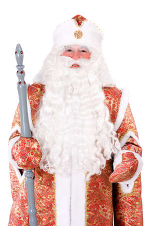 'ded moroz': Portrait of a Russian Christmas character Ded Moroz (Father Frost). Isolated