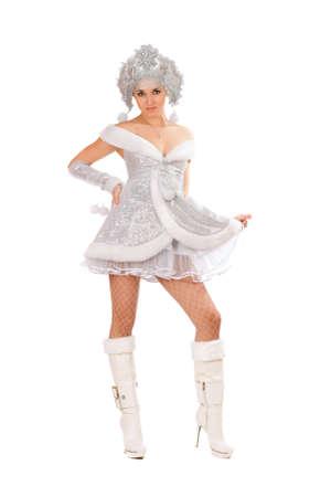 kokoshnik: Pretty young woman dressed as Snow Maiden