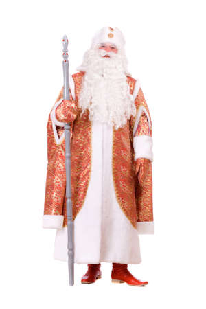 russian hat: Russian Christmas character Ded Moroz (Father Frost) Stock Photo