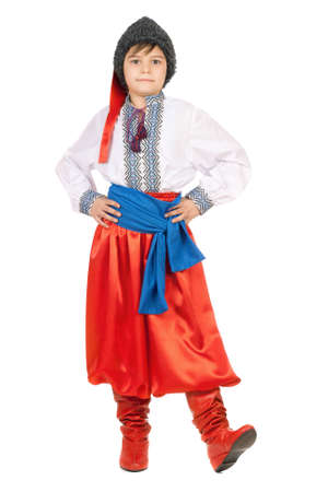 Boy in the Ukrainian national costume. Isolated photo