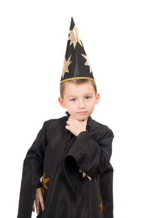 Portrait of a boy dressed as astrologer photo