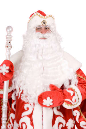 ded moroz: Portrait of a Russian Christmas character Ded Moroz (Father Frost)
