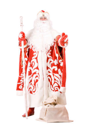 'ded moroz': Russian Christmas character Ded Moroz (Father Frost). Isolated