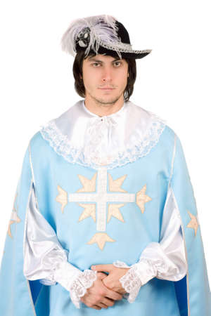 mosquetero: Retrato de hombre joven vestido de mosquetero
