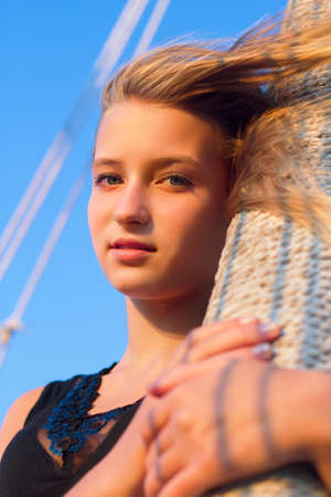 Closeup portrait of a teen girl outdoors Stock Photo - 16720947
