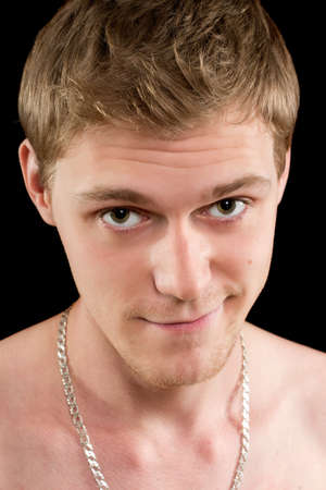 Closeup portrait of a funny young man. Isolated Stock Photo - 17538916