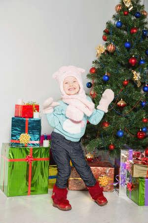 Little cheerful girl