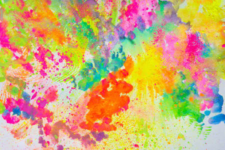 Nice colorful creative abstract art drawn on a white background
