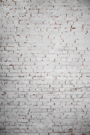 Background of a brick wall covered with white paint Stock Photo
