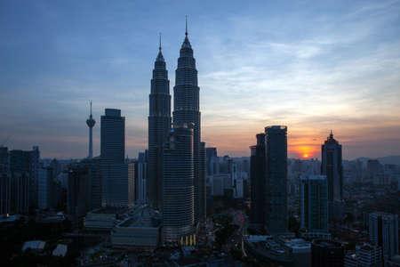 klcc: MALAYSIA Jun 20 2015 Kuala Lumpur City Centre KLCC sunset view in Malaysia Editorial