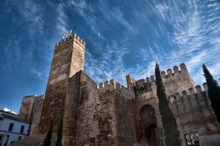 carmona: Sevilla Door in the old town of Carmona Stock Photo