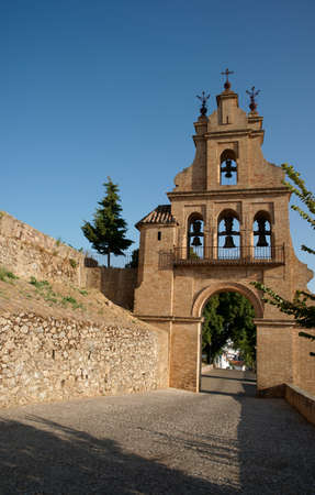 building monumental: Portico of the Priory Church of Aracena, Andalusia