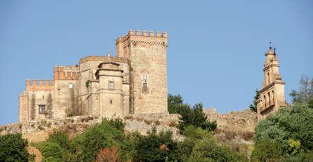 architectural architectonic: Aracena and its priory church, Huelva Stock Photo