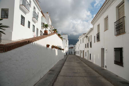 town planning: Streets of Mijas Pueblo, Mlaga Stock Photo