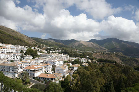 town planning: views of Mijas town in the province of Mlaga