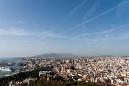 town planning: views of the city of Mlaga from the castle, Andalusia