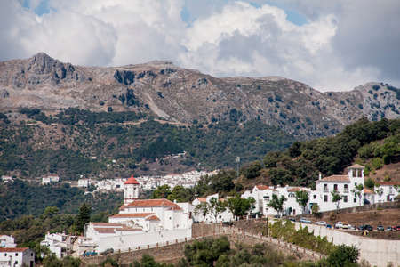 town planning: Genalguacil municipality in the province of Mlaga, Andalusia Stock Photo