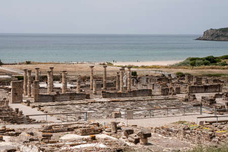 quenching: Remains of the ancient Roman basilica Baelo Claudia in Tarifa Stock Photo