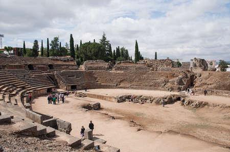 roman amphitheater: remains of the Roman amphitheater Mrida, Spain
